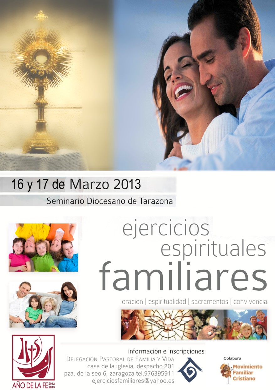 EJERCICIOS FAMILIARES organizados por Delegacion Familia y Vida