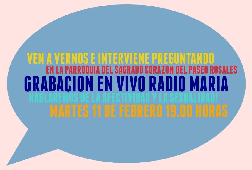 Nueva grabación para Radio María…