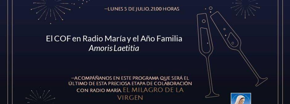 Ultima colaboración con Radio María hasta que la Virgen quiera…